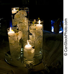 Candle - table elegantly prepared for romantic holiday