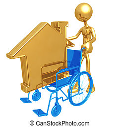 Wheelchair Housing - 3D Concept And Presentation Figure