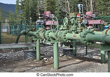 Oil and Gas Industry Valve System - Industrial valve system...