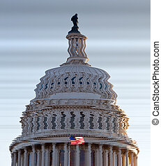 Distorted view of dome of Capitol in DC