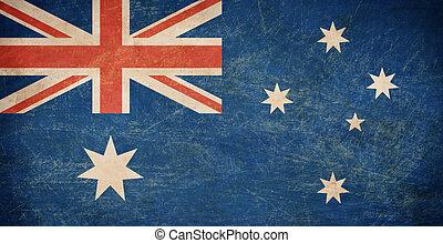bandera,  Australia, viejo