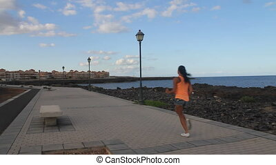 Jogging Girl near the sea