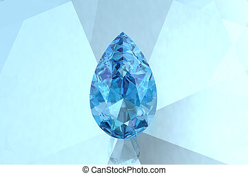 aquamarine high resolution 3D image