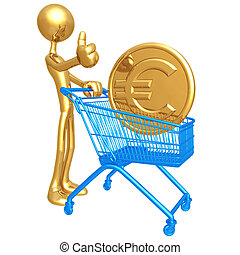 Shopping Cart Euro - 3D Concept And Presentation Figure