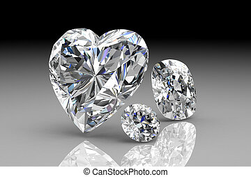 diamond jewel high resolution 3D image