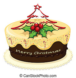 A delicious cake for Christmas - Illustration of a delicious...
