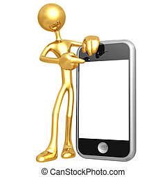 Touch Screen Cellphone Presenter - 3D Concept And...