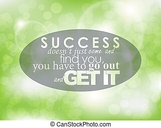 Motivational Poster - Success doesnt just came and find you,...
