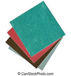 rubber - Rubber or linoleum floor tiles background