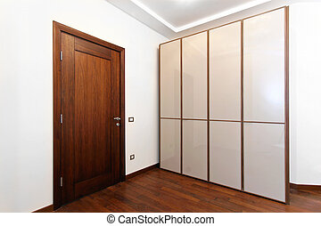 Wardrobe - New wardrobe room with white doors