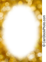 Abstract gold blurred lights christmas background with white...