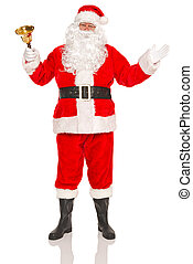 Santa Claus with gold bell - Santa Claus or Father Christmas...