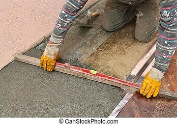 Home renovation, concrete