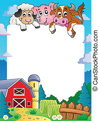 Farm theme frame 4 - eps10 vector illustration.