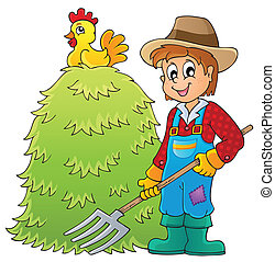 Farmer theme image 1 - eps10 vector illustration.