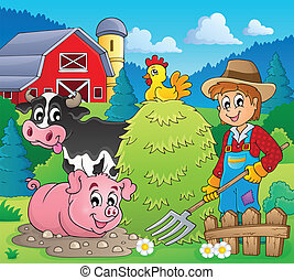 Farmer theme image 4 - eps10 vector illustration.