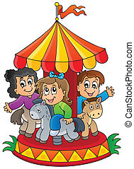 Image with carousel theme 1 - eps10 vector illustration.