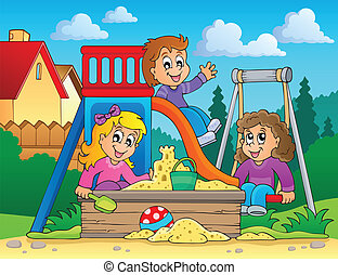 Image with playground theme 2 - eps10 vector illustration