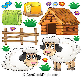 Sheep theme collection 1 - eps10 vector illustration.
