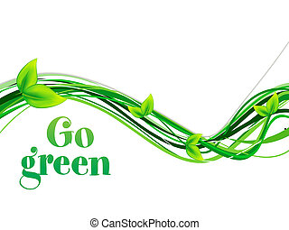 abstract go green background