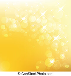 Vector christmas golden background with lights