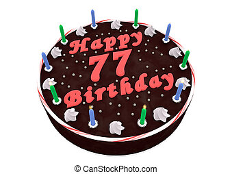 chocolate cake for 77th birthday