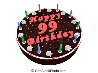chocolate cake for 99th birthday