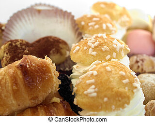 pastry - Mixed pastries with chocolate, cream, fruit