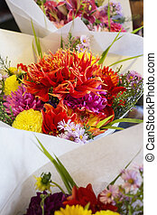 Fresh Flower Arrangement for sale in market, Seattle,...