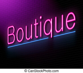 Boutique concept. - Illustration depicting an illuminated...
