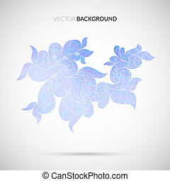 Abstract hand drawn watercolor geometric pattern, vector...