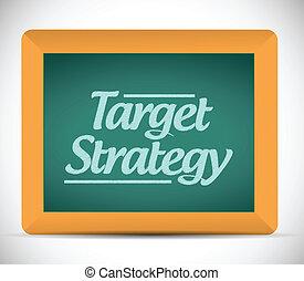 target strategy message written on a chalkboard