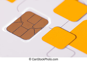 Close up telephone sim card