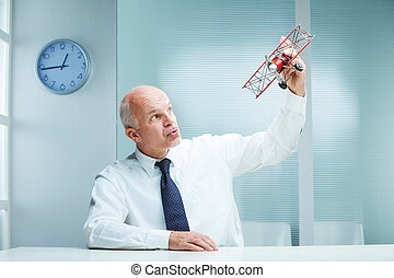 Desk clerk Flying Toy Airplane - Business Flying Toy...