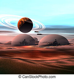 CASTLES IN THE SAND - City life under domes on Mars.