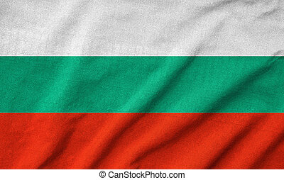 Ruffled Bulgaria Flag