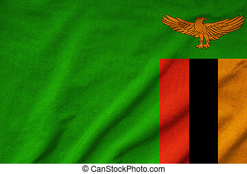 Ruffled Zambia Flag