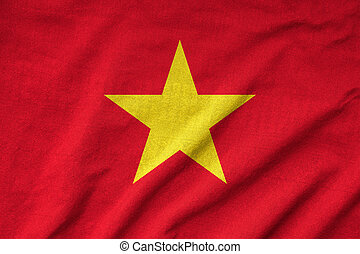 Ruffled Vietnam Flag