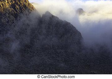 High Atlas mountains at sunrise.