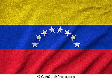 Ruffled Venezuela Flag