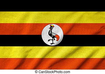 Ruffled Uganda Flag