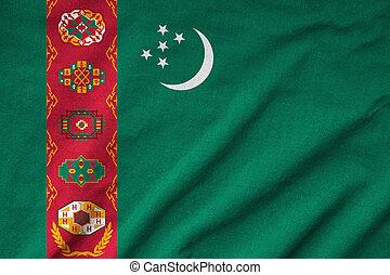 Ruffled Turkmenistan Flag