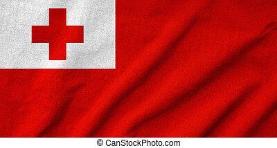 Ruffled Tonga Flag