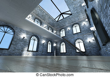 Loft Interior - Architecture visualization of a Loft...
