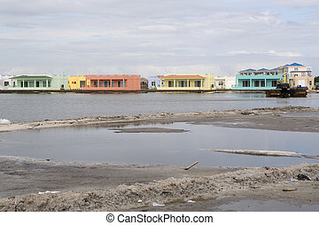 Colorful new Housing Development - A newly developed housing...