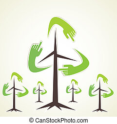 recycle tree vector - recycle tree background vector
