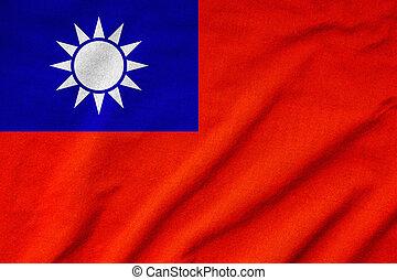 Ruffled Taipei Flag