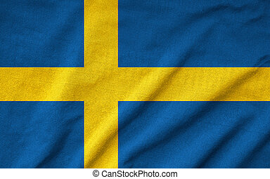 Ruffled Sweden Flag