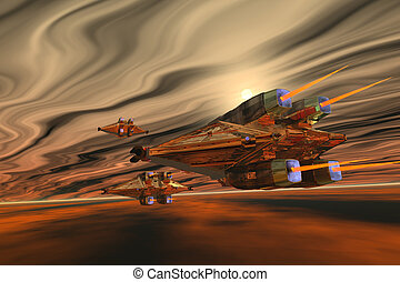 SCADLANDS - Spacecraft fly among spacial eddies