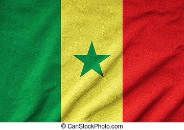 Ruffled Senegal Flag